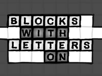 Blocks With Letters On