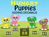 Hungry Puppies Adding Decimals
