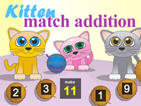 Kitten Match Addition