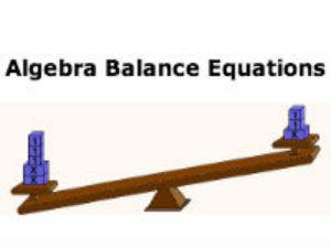 Algebra Balance Equations