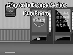 Grayscale Escape Fun Room
