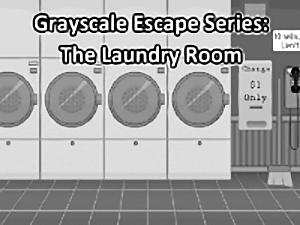 Grayscale Escape Laundry Room