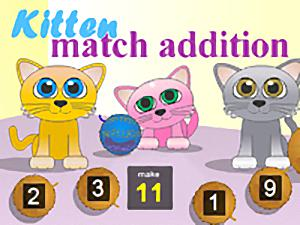 Kitten Match Addition