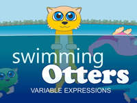 Swimming Otters Variable Expressions