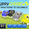 Puppy Chase Fractions to Decimals Thumbnail
