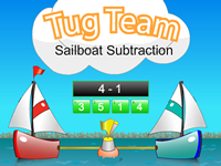 Tug Team Sailboat Subtraction