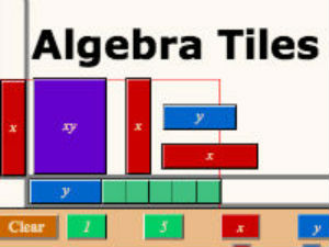 Base ten blocks for Algebra tile template