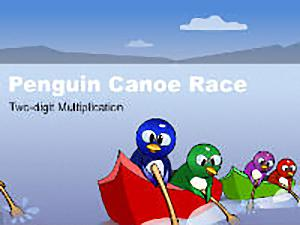 Canoe Penguins Two-Digit Multiplication
