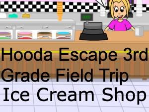 Hooda Escape 3rd Grade Field Trip Ice Cream Shop