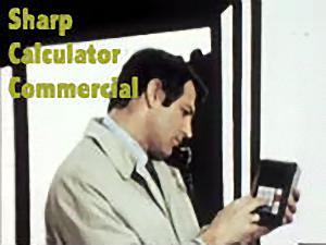 Sharp Calculator Commercial