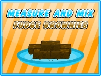 Measure and Mix Fudge Brownies