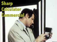Sharp Calculator Commercial